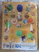 Vintage Folz Vending Machine Display Card Tops Monster Rings Lucky Tooth Chest