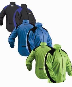 HI VIZ Green Blue CYCLING Jogwalk JACKET WATERPROOF Top Quality Heavy Rain Cover