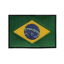 "BRAZIL FLAG IRON ON PATCH 3"" Embroidered Applique Brazilian Pride Nation Emblem"