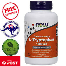 Now Foods L-Tryptophan Double Strength 1,000 mg 60 Vegan Tablets