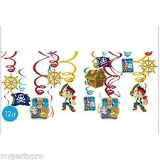 JAKE AND THE NEVER LAND PIRATES party supplies (SWIRL DECORATION) FREE SHIPPING