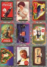 COCA COLA PREMIUM COLLECTION 1995 COLLECT-A-CARD COMPLETE BASE CARD SET OF 60 AV