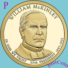 2013-P WILLIAM McKINLEY GOLDEN PRESIDENTIAL DOLLAR FROM MINT UNCIRCULATED ROLL