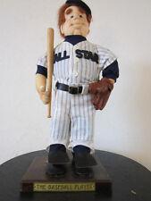 "Vintage, Hand Made, ""All-Star"" Baseball Player Doll"