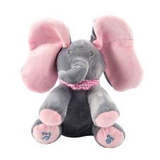 Peek-a-boo Music Elephant Baby Plush Toy Stuffed Singing Doll Kids xmas Gift
