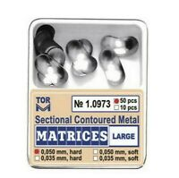 Dental Large Sectional Contoured Metal Matrices Matrix 50 pcs TOR VM