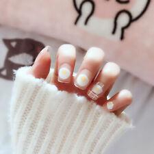 Fashion Manicure White Short French Style False Tips Fake Nail Sticker 24 PCS