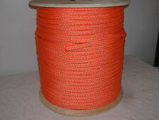 1/2 x 600 Double Braid Orange Nylon rope Anchor Dock Hoist Winch Tower Lift