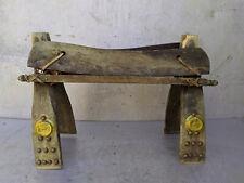 Antique Camel Saddle Bench Seat Stool Ottoman