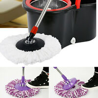 Replacement 360 Rotating Easy Magic Microfiber Spinning Floor Mop Head 4 Colors