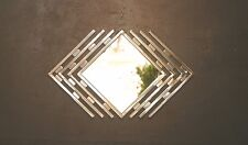 Abstract Metal Mirror Sculpture Silver Mid Century Modern Hand Made