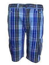 Men's New AC Summer Check Shorts Cargo Combat Cotton Beach Surf Style Shorts