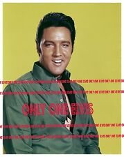 ELVIS PRESLEY 1968 LARGE 24x30 Photo PUBLICITY SHOT The King in Green SMILING