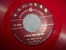ART GENTRY BICYCLE BUILT FOR TWO/JIMMY BLAINE SUMMERTIME RED VINYL 45 ON CARAVAN