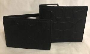 Coach Men's BillFold ID Wallet 3D print RRP £295 Signature C logo Brand New