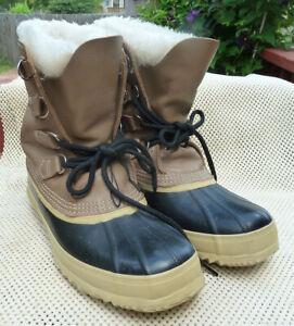 Sorel Caribou Women's Waterproof Felt Lined Winter Snow Duck Boots Size 10m