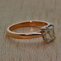 18Carat Rose Gold 1.01ct Diamond Solitaire Engagement Ring RRP £4950 {JX15}