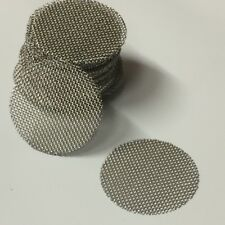 50 COUNT Stainless Steel T304 Wire Mesh Screen Filter Discs 3/4