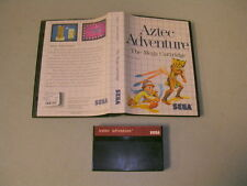 AZTEC ADVENTURE (Sega Master System SMS) Game & Case, No Manual