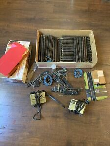 HUGE LOT 200 Pieces HO SCALE TRACK Straight + Extras + 2 Power Packs