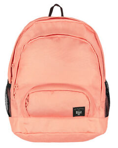 NEW + TAG BILLABONG ELECTRIFY BACKPACK SCHOOL GYM BAG 22L WOMENS GIRLS PEACH