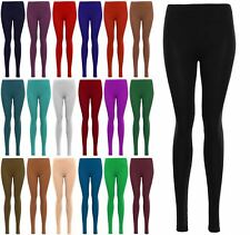 Ladies Womens Length Full Ankle Basic Jersey Jegging Leggings Stretchy Trousers