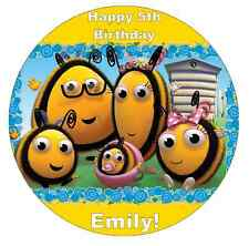 The Hive Bumble Bee's Cake Topper Personalised Edible Wafer Paper 7.5""