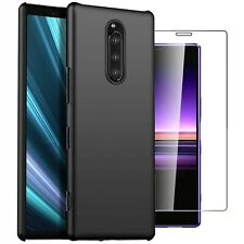 For Sony Xperia 1 Case Slim Hard Back Cover & Glass Screen Protector