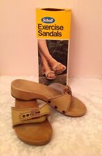 Scholl Exercise Sandals Vintage 1980's. Size 7