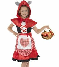 Smiffys Children's Miss Hood Costume Dress and Hooded Cape With Attached Wolf E