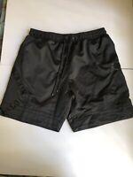 NIKE AIR JORDAN Satin Diamond Triple Black Shorts AO2820 010 NWT Size Medium Men