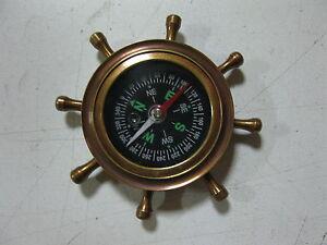 Bussola 70 MM IN Ottone Brunito Bussola Nave Nautico Decorazione Marittima