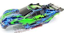 RUSTLER 4x4 BODY Shell (GREEN & Blue Cover Shell decals Traxxas VXL 67076-4