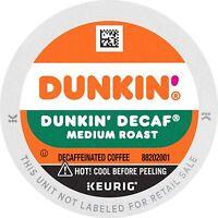 Dunkin' Donuts Coffee DECAF 22 Ct. K-Cups Pod Original Blend Keurig Medium Roast