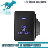 fit Mitsubishi Triton MQ Blue LED Light Bar Push Switch Pajero QE Mirage On OFF
