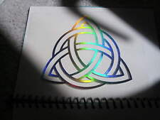 Rainbow Celtic Trinity Knot (Triquetra) Holographic Sticker