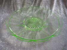 Pressglas Glasschale Platte rund D 28,5 cm ILSE von Bernsdorf  Uranglas !*!