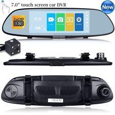 """7 """" HD 1080P Dual Lens Auto DVR Rückspiegel Dash Cam Kamera Nachtsicht G-Sensor"""