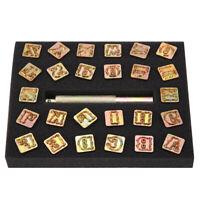 KLEINBUCHS. 4mm a-z Schlagstempel Schlagbuchstaben