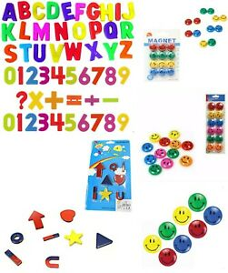 Fridge Magnets Alphabets,Numbers, signs,Symbols,Smiley Face Kids Toys Magnets