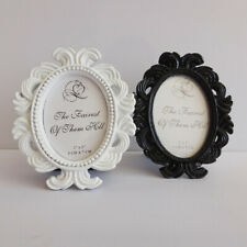 Vintage Oval Photo Frame Resin Picture Holder Wedding Home Photo Table Decor DIY