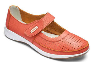 JD Williams Coral Leather Touch and Close Bar Shoes - Ref 49