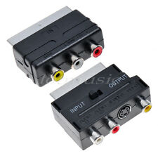 Scart to Composite 3RCA S Adapter+Scart to 3 RCA AV Adapter Converter Switch