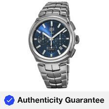 Nuevo enlace Tag Heuer Automático Cronógrafo Esfera Azul Reloj para hombres CBC2112.BA0603