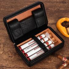 GALINER Leather Cedar Wood Travel Cigar Case Humidor  for  cohiba cigars-New