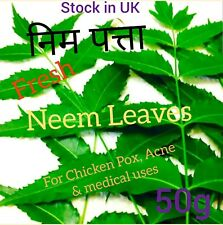 निम Fresh Neem Leaves 50g .Cure of Chicken Pox ,Acne , Skin Care & medical use