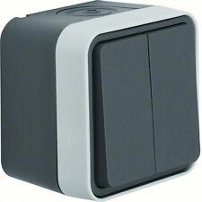 Berker Serienschalter lichtgrau Aufputz IP 55 Berker Serie W1 Typ 30753505