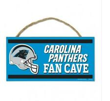 Carolina Panthers Wooden Sign Door 9 13/16In, Nfl Football, Fan Cave Wood