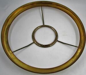 """Vintage 10"""" Oil, Kerosene, Electric Lamp Shade Holder Ring 2 3/4"""" Center"""