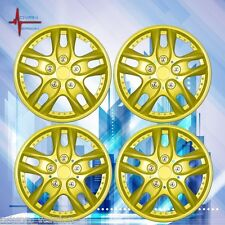 "16"" Hub Caps Wheel Cover Skin ABS 4 Piece Set Yellow TOYOTA CAMRY COROLLA"